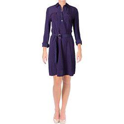 Tory Burch Womens Rylie Silk Printed Shirtdress