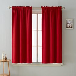 Deconovo Blackout Curtain Room Darkening Thermal Insulated Curtains Rod Pocket Window Curtain fo ...