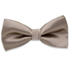 Kids Boys Silk Bow Ties – Adjustable Bowtie for Baby Toddler Gifts (Khaki)