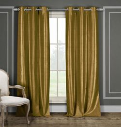 DUCK RIVER TEXTILES – Bali Faux Silk Grommet Top Window Curtain 2 Panel Drape, 38 X 84 Inc ...