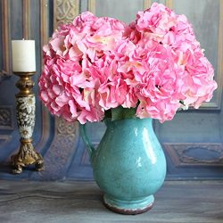 Duosuny Artificial Silk Fake 5 Heads Flower Bunch Bouquet Home Hotel Wedding Party Garden Floral ...