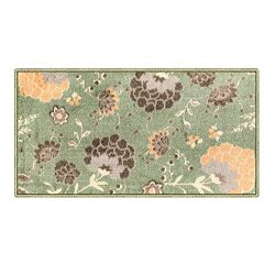 Silk & Sultans Agathe Collection Floral Design, Pet Friendly, Non-Slip Doormat with Rubber B ...