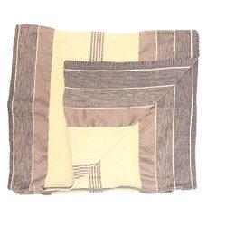 Beige & Brown Handmade Cotton & Silk Moroccan Pillowcases – Set of 2