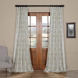 HPD HALF PRICE DRAPES Ptpch-170807-96 Tabriz Printed Faux Silk Taffeta Blackout Curtain, 50 x 96 ...