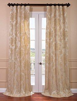 HPD HALF PRICE DRAPES Half Price Drapes JQCH-20122010-120 Magdelena Faux Silk Jacquard Curtain,  ...