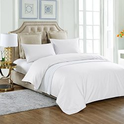 THXSILK 4 Piece Silk Comforter Set for Summer – White, Cal King – Soft, Hypoallergen ...