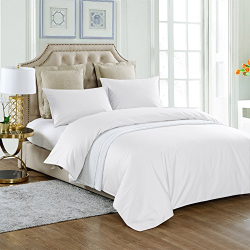 THXSILK 4 Piece Silk Comforter Set for Summer – White, Cal King – Soft, Hypoallergen ...