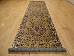 Persian Silk Brand Gold Rug Gold Rugs 2×8 Hallway Runner 2×7 Gold Runners Rug Persian  ...