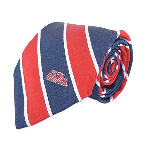 NCAA Woven Silk Repp Stripe Collegiate Logo, Tie 1.