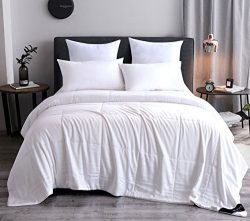Whitney Home Textile Silk Comforter Bamboo Microfiber Covered Filled with 100 Percent Natural Mu ...