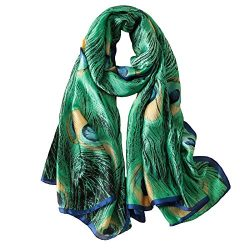 100% Mulberry Silk Scarf Women's Fashion Pattern Large Satin Headscarf Ladies Floral Satin ...