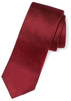 Buttoned Down Men's 100% Silk Necktie, Burgundy Texture, Regular