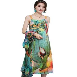 2018 Summer Dress New Style Chinese Style Retro Temperament Medium Length Skirt Floral Two Piece ...