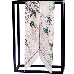"""Silk Scarf Women, 100% Mulberry Silk Scarf Square for Hair 14MM Twill for Women 35""""x35&#82 ..."""