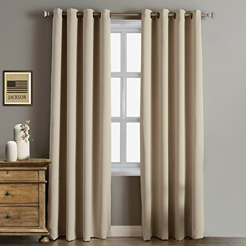 Rose Home Fashion RHF Function Curtain-Blackout curtains 96 inch,Bedroom Curtains Blackout Curta ...