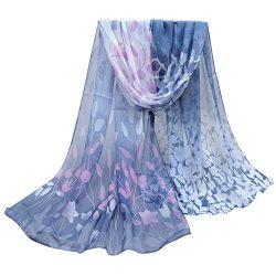 Scarves,lookatool Women Design Printed Silk Soft Silk Chiffon Shawl Wrap