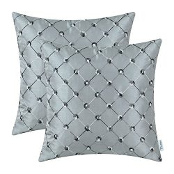 CaliTime Pack of 2 Cushion Covers Throw Pillow Cases Shells for Home Sofa Couch 20 X 20 Inches,  ...