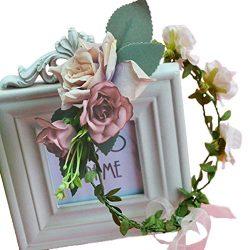Vivivalue Christmas Handmade Flower Wreath Headband Crown Halo Floral Hair Garland Headpiece wit ...
