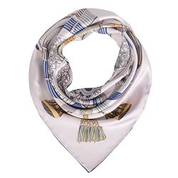 "Silk Scarf Women, 100% Mulberry Silk Scarf Square for Hair 14MM Twill for Women 35""x35R ..."