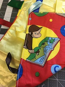 Curious George ~ Small Security Blanket with Ribbon Tabs