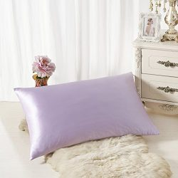 ALASKA BEAR Natural Silk Pillowcase, Hypoallergenic, 19 momme, 600 thread count 100 percent Mulb ...