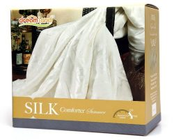 Dreamland Comfort All Natural Mulberry Silk Comforter for Summer, Full