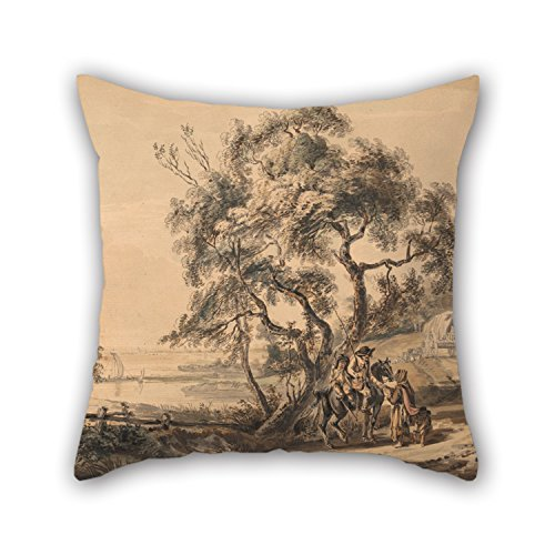 Oil Painting Paul Sandby – The Gypsy Fortune-Teller Pillowcase 18 X 18 Inch / 45 By 45 Cm  ...