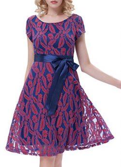 Belle Poque V-Back Vintage A-Line Evening Dresses For Women Size M Floral-1
