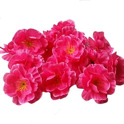 Colorfulife® Artificial 4.5cm Silk Plum Blossom Peach Sakura Cherry Head Flower Heads Artificial ...
