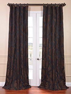 HPD HALF PRICE DRAPES Half Price Drapes JQCH-201302-96 Magdelena Faux Silk Jacquard Curtain, 50  ...