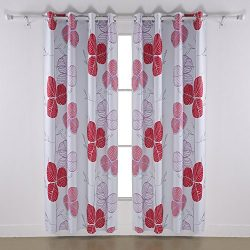 Deconovo Drapes for Beddroom Decorative Thermal Insulated Blackout Window Curtains with Grommet  ...