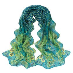 Scarves,lookatool Women Peacock Pattern Soft Silk Chiffon Shawl Wrap Wraps Scarf