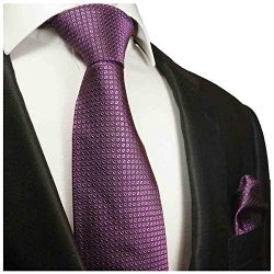 Violet Silk Men's Tie and Pocket Square by Paul Malone