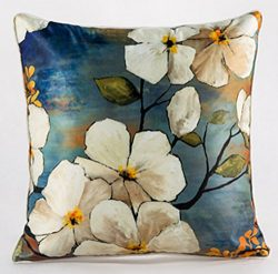 Happy Cool Vintage Flower Luxurious Imitated Silk Fabric Rectangle Throw Pillow Covers Cases Cus ...