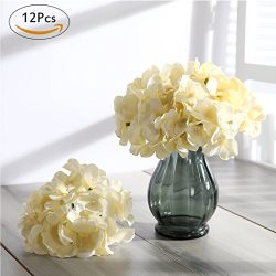 Veryhome Blooming Silk Hydrangea Flower Heads for DIY Bouquets,Wedding Centerpieces,Home Decor ( ...