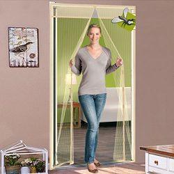 Silk Road Anti mosquito bug door blinds Summer Mute Magnetic screen door Ventilation Transparent ...