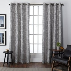 Exclusive Home Finesse Window Curtain Panel Pair with Grommet Top, Ash Grey, 54×108, 2 Piece