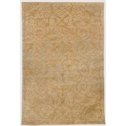 Safavieh Tibetan Collection TB317B Hand-Knotted Green and Gold Silk & Wool Area Rug (8&#8242 ...