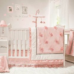Arianna 4 Piece Pink Floral Baby Crib Bedding Set by The Peanut Shell