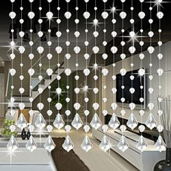 10 Pack Clear Crystal Glass Beaded Curtain, Clearance Sale! ❤ Beautiful Elegance Butterfly Voile ...