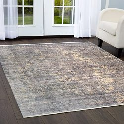 Nicole Miller Designer Area Rugs: Artisan 968-451 Gray Transitional Medallion Bamboo Silk Rug: 3 ...