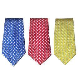 Lacrosse Silk Necktie Boy's Tie – 100% Silk Lacrosse Gift Designer Sports Neck Tie (Crosse ...
