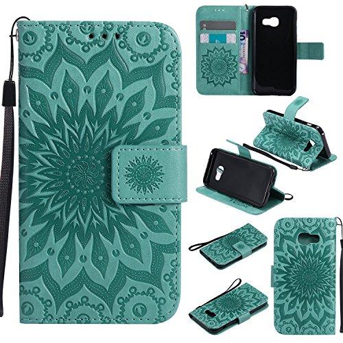 Galaxy J7 V Case J7 Perx/J7 Sky Pro Cover ZVKVAMT Luxury Natural Silk PatternPU Leather Wallet  ...