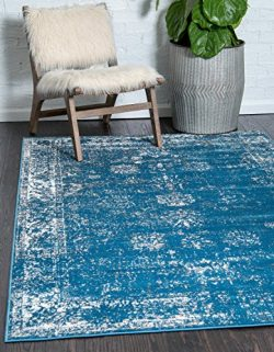 Unique Loom Monaco Collection Traditional Vintage Blue Home Décor Area Rug (9′ x 12′)