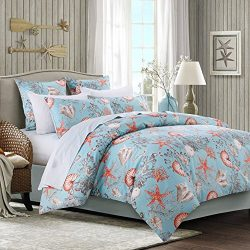 Brandream Luxury Nautical Bedding Blue Beach Themed Bedding Sets 4-Piece 100% Egyption Cotton Du ...