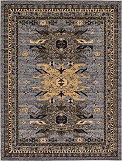 Classic Traditional Geometric Persian Design Area rugs Gray 8′ 11 x 12′ Qashqai Heri ...