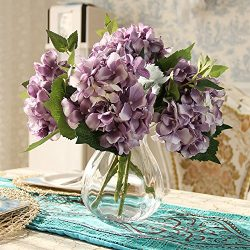 Felice Arts Artificial Silk Flowers California Fake Beautiful Hydrangea Bunch Bouquet Flower for ...