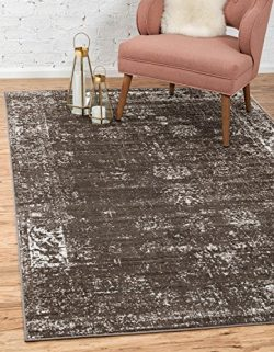 Unique Loom Monaco Collection Traditional Vintage Brown Home Décor Area Rug (9′ x 12′)