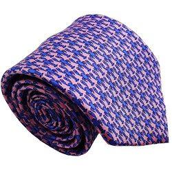 Qobod Silk Necktie Handmade Tie Mens Gift Box pink sky blue lobster