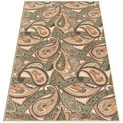 Silk & Sultans Agathe Collection Contemporary Beige Paisley Design, Pet Friendly, Non-Slip A ...